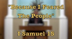 Because I Feared The People