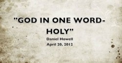 GOD IN ONE WORD - HOLY