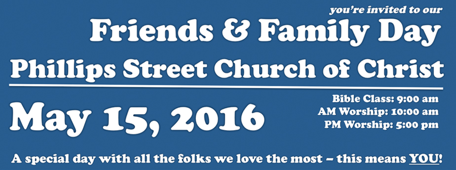 2016 Phillips Street Friends and Family Day