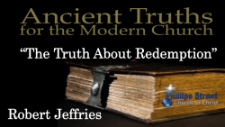 The Truth About Redemption - Robert Jeffries