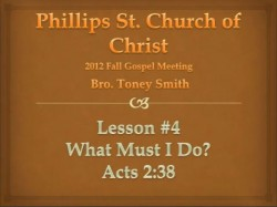 What Must I Do?- Acts 2:38
